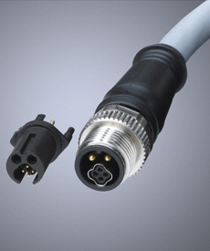 Brad® Micro-Change® M12 Circular Hybrid Technology (CHT) Connector and Cordsets